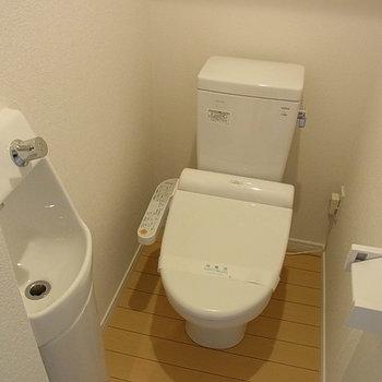 ウォシュレット、手洗い場もあります