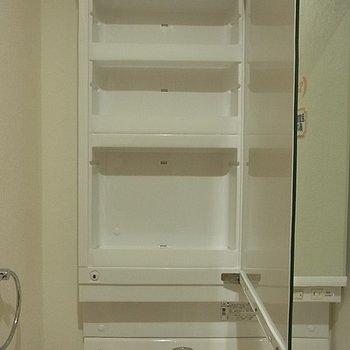 洗面台の収納部分