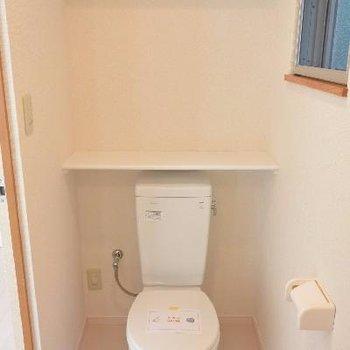 トイレタンクが妙に可愛い