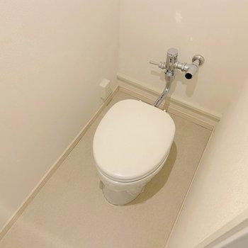 トイレは少しレトロ感がありますね。