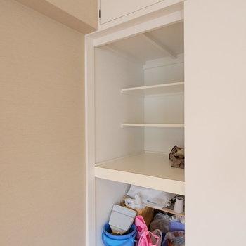 居室の収納には扉はないので注意です!※写真はクリーニング中