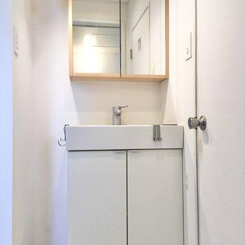 独立洗面台は電化製品が扱いやすくて便利ですよね。