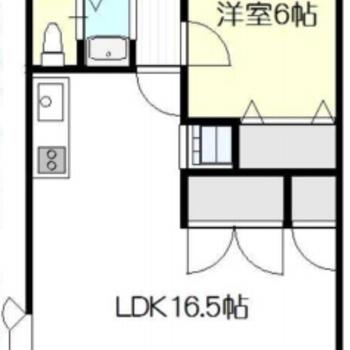 広々使える1LDKのお部屋!
