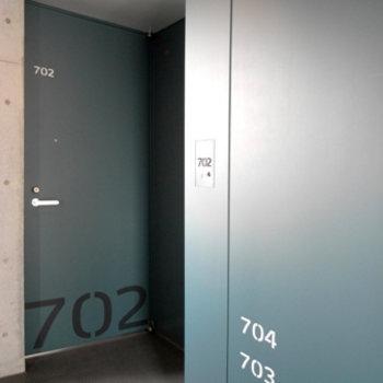 部屋番号までしっかりデザイン