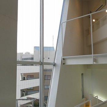 二階からの抜けの良い眺め