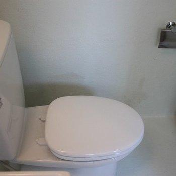 洗面台の隣にトイレ