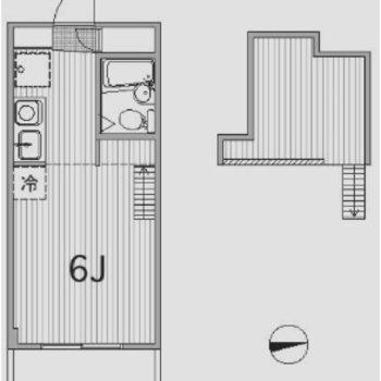 1人暮らし向きのコンパクトなお部屋。
