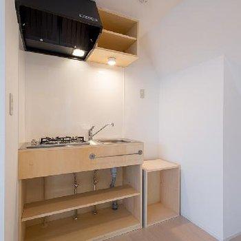 キッチンは2口コンロです。※写真は前回募集時のものです