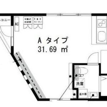 広々使えるワンルームのお部屋です。