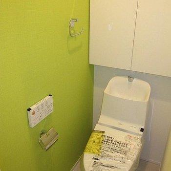 トイレはフレッシュなグリーン