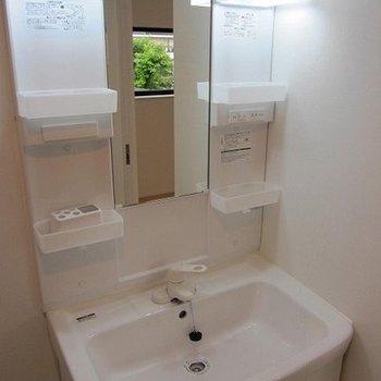 洗面台は機能性重視