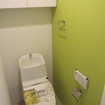 トイレはフレッシュなグリーン※写真は前回募集時のものです