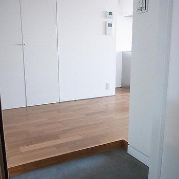 玄関も十分な広さです(写真は6階です)