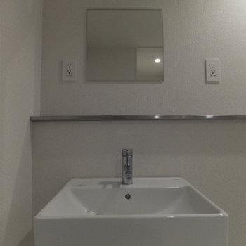 洗面台スペースは広くて使いやすいです♪