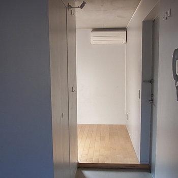 玄関から(画像は別室です)