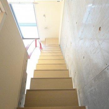 しっかりした階段です