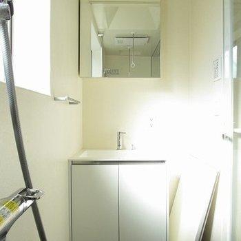 独立洗面台もきれい!