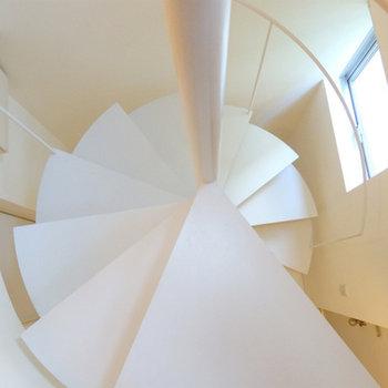 ラセン階段をのぼると