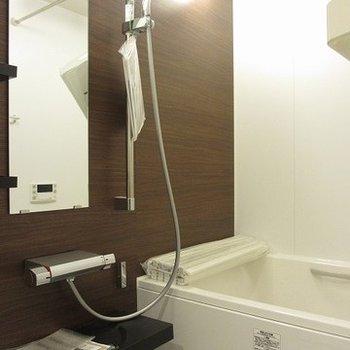 高級感のある浴室。ゆったりとしています
