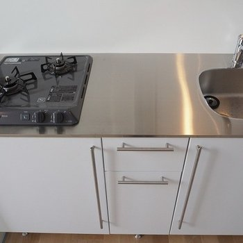 キッチンも大きめで使いやすそうです。