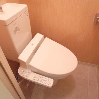 トイレはウォシュレット。2つ付いてます