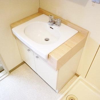 洗面独立です。広々パウダールームです。(画像は別室です)