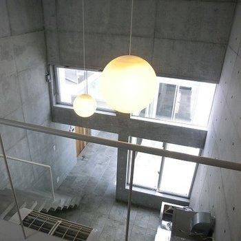2階からの眺め。