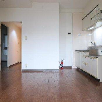 キッチンはこの位置に新しく設置予定※写真は工事前