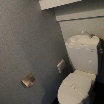 階段下にはトイレ