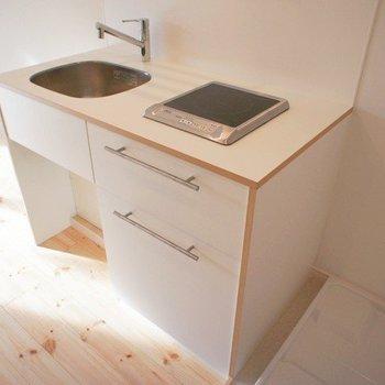 オリジナルキッチンでコンパクトにまとめてます※写真は前回募集時のものです