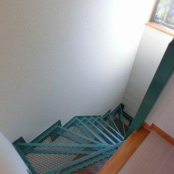 階段はグリーンです。