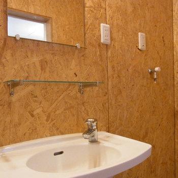 シンプルな洗面台※同じ間取りの別部屋写真です