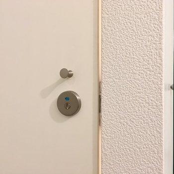 【1階】なにこれ!トイレのドアノブはつまむタイプじゃん。