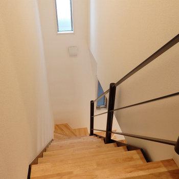 階段で登っていきます