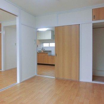 洋室は2箇所の扉から