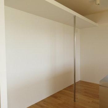 キッチン後ろにスペースも