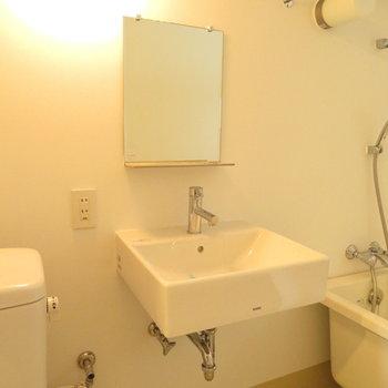 そしてこのシンプルな洗面台