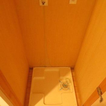 廊下には洗濯機置き場が