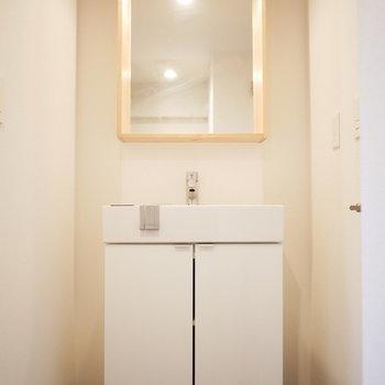 既存の洗面台をリニューアル※前回の募集の写真です。