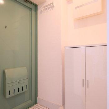 扉はおしゃれなモスグリーンに変更。アメリカンヴィンテージの雰囲気