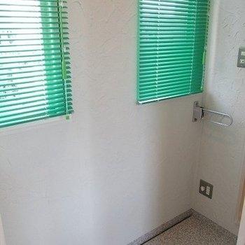 洗濯物干しのスペースです。