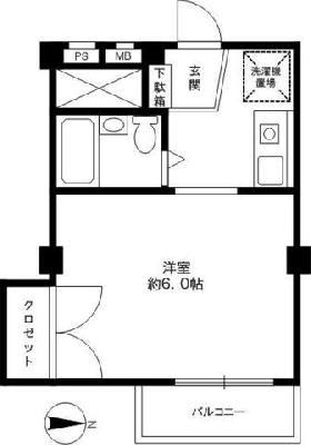駒沢514マンション の間取り
