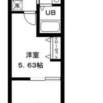 縦長に2部屋あるちょっと珍しい間取りです※画像は別室