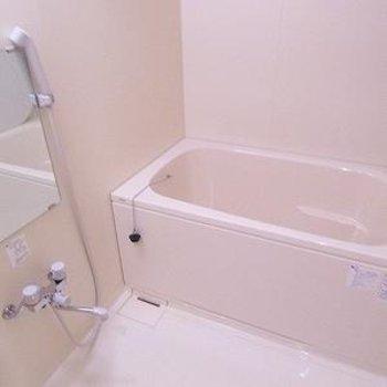 お風呂はまずまずの広さ※画像は別室