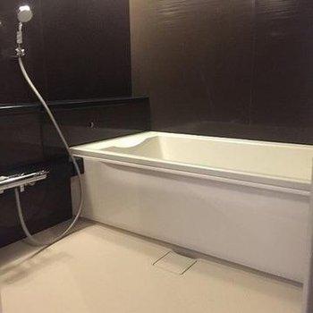 お風呂が贅沢な広さ!色は居室と統一。