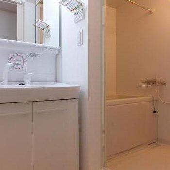 洗面スペースも2階!