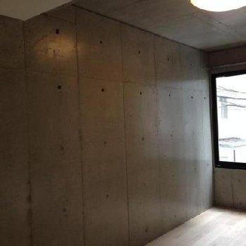 コンクリートの壁です。
