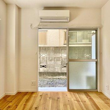 居室側のスペースは約6.5J。