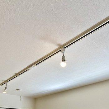 お部屋の照明はライティングレールです。