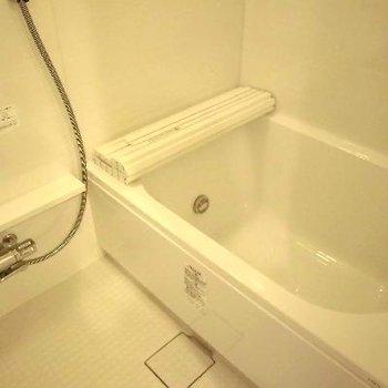 大きな浴槽です。足もらくらくのばせます!